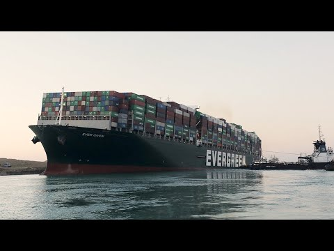 Suez Canal: New video shows Ever Given container ship as it is 'partially refloated'