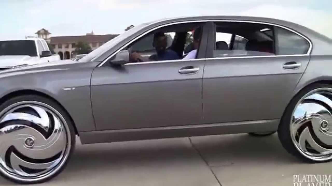 2014 Bmw 750li >> IWWT - BMW 750Li on 30 inch rims _ big wheels - YouTube