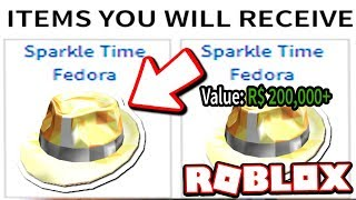 FAN GIVES 200.000 SPARKLE TIME FEDORA PER X-MAS!!! (Roblox)