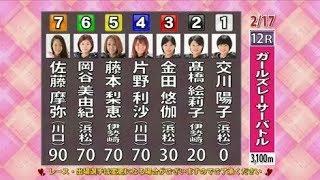 川口オートレース ガールズレーサーバトル 12R 初日 2018年2月17日