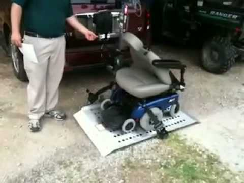 Silverstar full platform lift power chair on vehicle for Motorized wheelchair lifts for cars