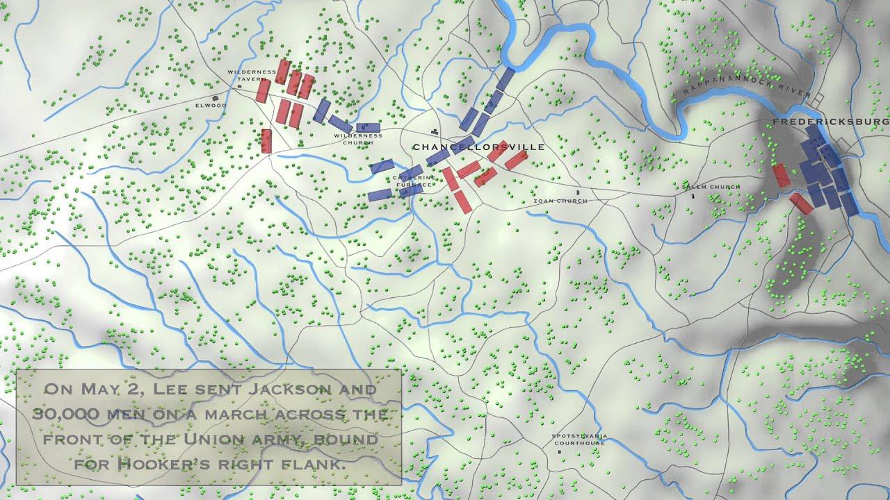 Chancellorsville Final Battle Map - YouTube on