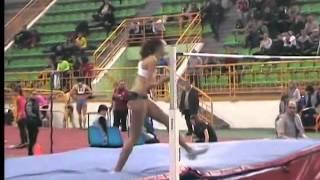 Стрибок у висоту Ірини Геращенко на 1.95