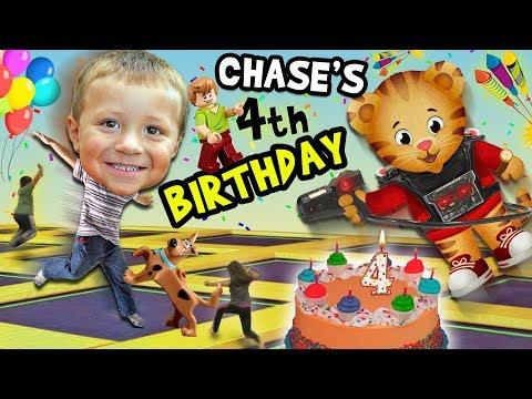 Chase's 4th Birthday Party Adventure! Never Ending Fun with Daniel Tiger Pinata FUNnel V Fam Vlog