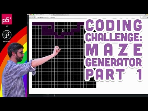 Coding Challenge #10.1: Maze Generator with p5.js - Part 1