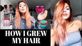 6 TIPS ON HOW I GREW MY HAIR! - products I use etc