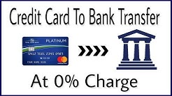 How to transfer money from credit card to bank account in India with no extra charges