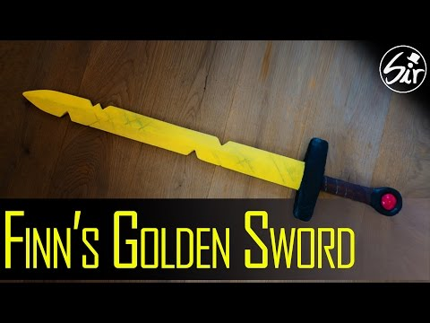 How to make Finn's Golden Sword out of Wood - DIY