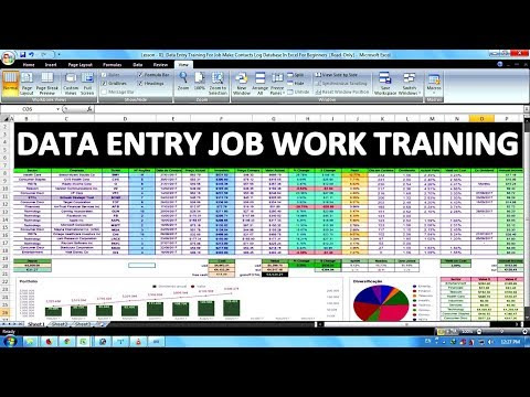 Data Entry & Office Work Training For Job In Excel In Hindi