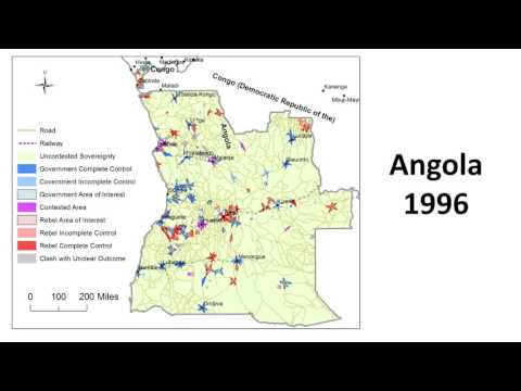 Territorial Control During Angola's Civil War