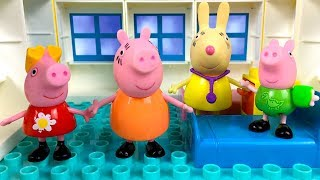 STORY WITH PEPPA PIG-  GEORGE FALLS OUT OF TREE AND BREAKS HIS ARM