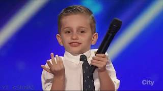 Youngest America's Got Talent Comedian | Nathan Bockstahler | Full Audition & Performances thumbnail