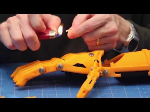 """How to Assemble the """"Tendon"""" Lines for the Cyborg Beast 3D Printed Prosthesis (3D Universe)"""