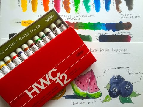 Holbein Artists Watercolors and comparison