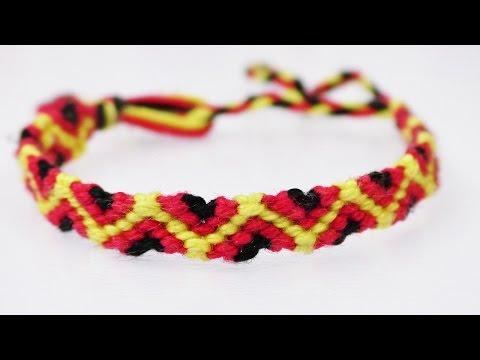EM 2016 Armband wie von Jogi Löw | einfaches DIY Deutschland Fanarmband knüpfen | EURO 2016