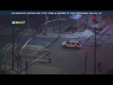 POLICE CHASE: Suspect Leads Chase Through LA In Stolen Metro Vehicle | ABC7