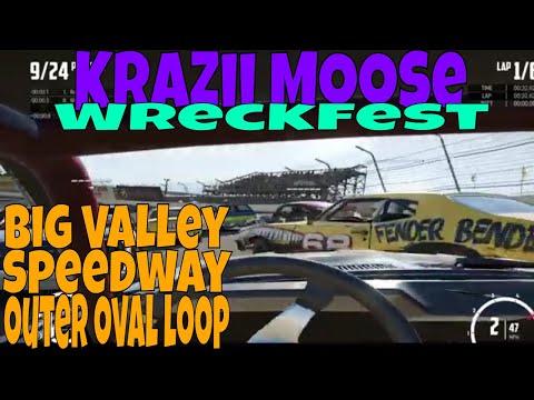 Wreckfest Big Valley Speedway Outer Oval Loop