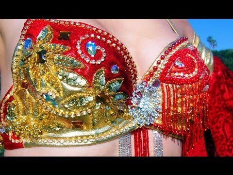 AMEYNRA Belly Dance fashion beaded jeweled bra collection