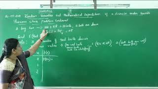 I PUC/ STATISTICS/ RANDOM VARIABLES AND MATHEMATICAL EXPECTATIONS-06