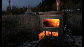 NOMAD - BEST GSTOVE ALTERNATIVE  - Portable Wood Stove for Winter Camping in a Canvas Tent & Cooking