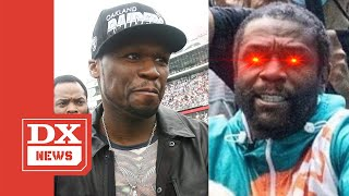 50 Cent Clowns Floyd Mayweather's New Look Following Jake Paul Dustup