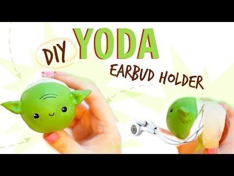 DIY YODA EAR BUD HOLDER - MAY THE 4TH DIY