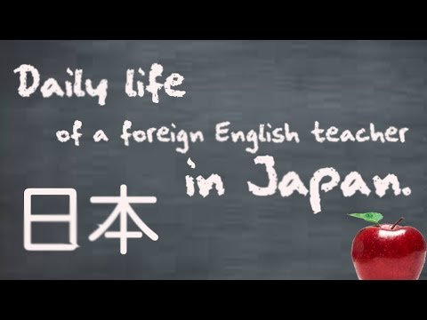 Foreign English teachers daily life in Japan.