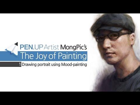 PEN.UP Digital Art Tutorial Vol.1 Galaxynote Drawing (@mongpic)