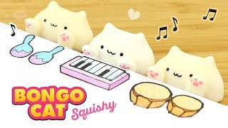 DIY BONGO CAT SQUISHY!! How to Make Hitohada Gel Squishies