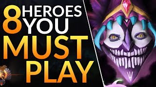 Top 8 BROKEN Heroes you MUST PLAY in Patch 7.22G - Meta Tips to WIN MORE | Dota 2 Guide
