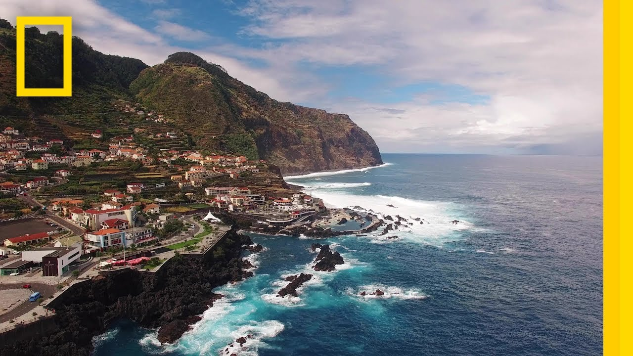 Dive Into The Natural Swimming Pools Of Porto Moniz National Geographic Youtube