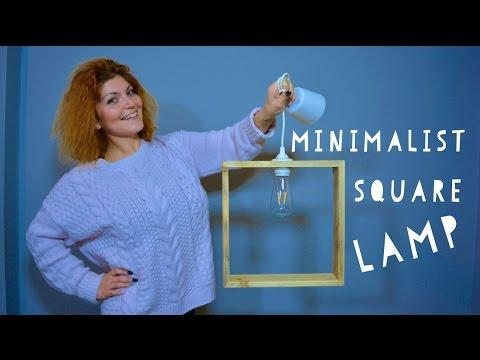 DIY - PENDANT LAMP MINIMALIST SQUARE WOOD (English subtitles) Room Decor Ideas