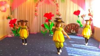 танец пчелок с цветами. Мартынова Людмила(детский сад №2