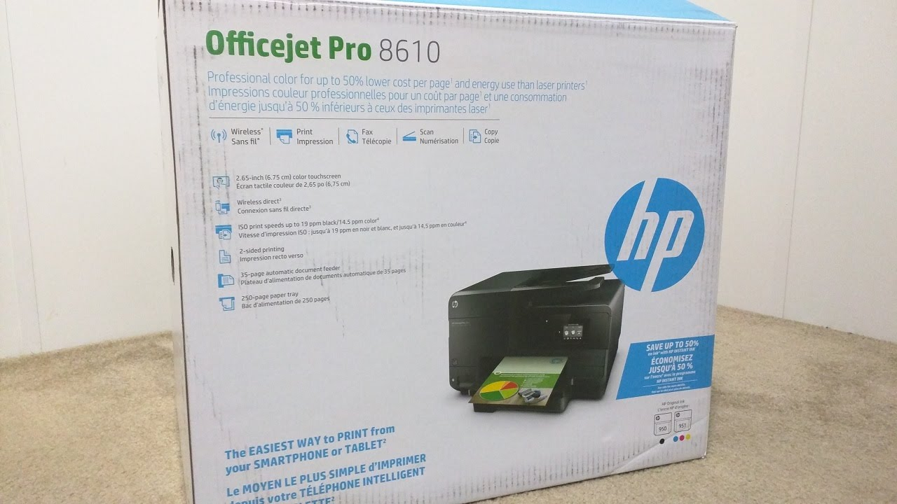 Hp Officejet Pro 8610 Unboxing Wireless Setup Youtube
