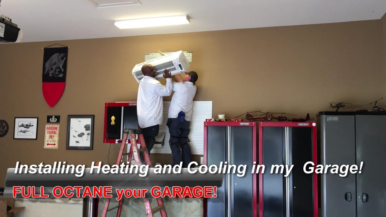 installing heating and cooling in my garage! - youtube