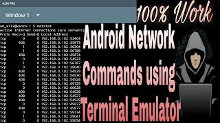 Android Network commands using terminal emulator tutorial 2