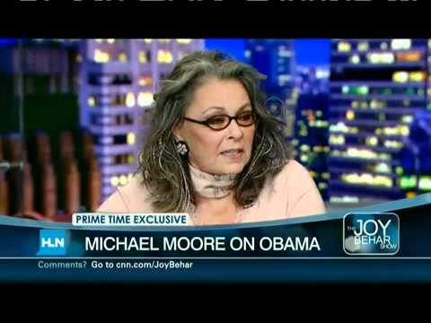 Michael Moore Speaks With Roseanne Barr on HLN, Pa...