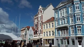 Norway - city of Bergen - old town & fish market - cruise to New York