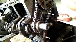 Pemasangan Rantai api(timing chain) pada mesin kijang 5k#afra