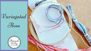 Color variations: how to use variegated threads like Coloris