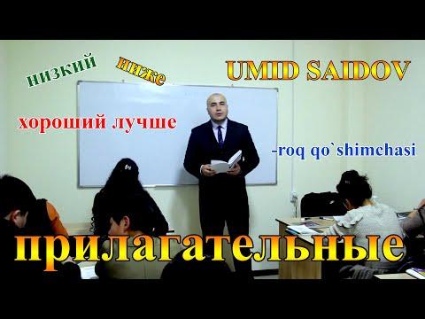 Rus tili  -roq qo'shimchasi, прилагательные, diktant o'zingizni sinab ko'ring