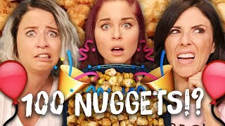 100 CHICKEN NUGGETS for our 100th EPISODE!! (Cheat Day)