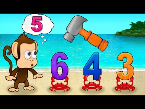 Kids Learn Numbers Colors Shapes with Monkey Preschool Math - Educational Game for Toddlers