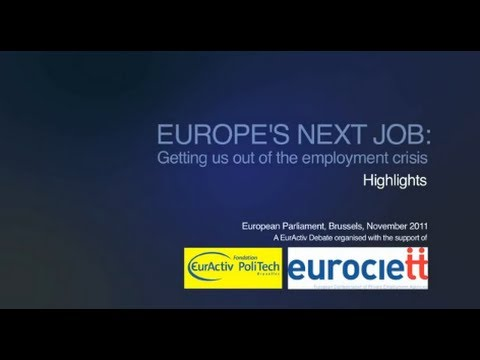 Europe's next job: Getting us out of the employment crisis -- debate highlights (long)