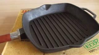 Сковорода гриль. Обзор чугунной сковороды гриль