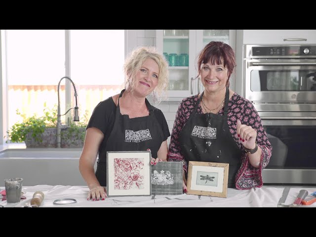IOD Gallery Wall Episode 3 ( Seal, Dragonfly and Rose Toile ) using IOD Stamps