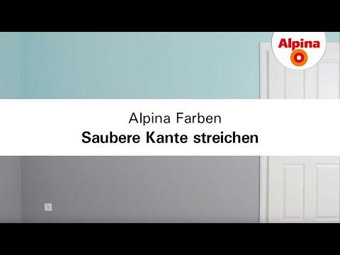 Alpina Farben: Saubere Kanten Streichen