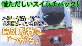 慌ただしいスイッチバック!E751系特急つがる 八戸へ向けて発車!