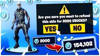 *NEW* How to Refund Skins in Fortnite Battle Royale! (Refund System Fortnite)