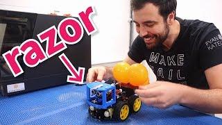 We built robots & made them fight (Mario Kart Battle IRL)